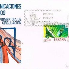 Sellos: EDIFIL 2522/3, PRIMER DIA IA MUNDIAL DE LAS TELECOMUNICACIONES, PRIMER DIA DE 178-5-1979 SFC. Lote 212002181