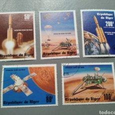 Sellos: 5 SELLOS NÍGER 276/78 NIGERIA OPERATION VIKING SUR MARS USADOS AÑO 1977. Lote 213973182