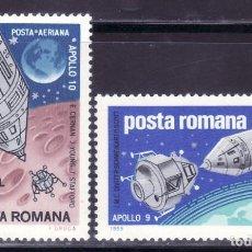 Sellos: SELLOS TEMA ASTRO. RUMANIA 1969 A-219/20 APOLO 9/APOLO 10. B. Lote 214086437
