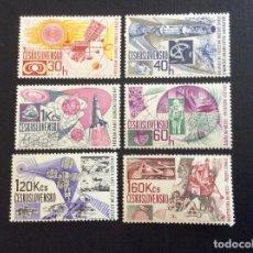 Sellos: CHECOSLOVAQUIA Nº YVERT 1550/5*** AÑO 1967. CONQUISTAS ESPACIALES. Lote 214307420
