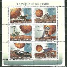Sellos: COMORES 2008 IVERT 1231/36 *** CONQUISTA DE MARTE - CONQUISTA DEL ESPACIO. Lote 215926170