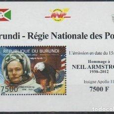 Selos: BURUNDI 2012 HOJA BLOQUE SELLOS CONQUISTA DEL ESPACIO ASTRONAUTA NEIL ARMSTRONG - APOLO 11. Lote 216824633