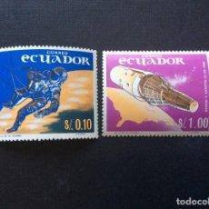 Sellos: ECUADOR Nº YVERT 755/6*** AÑO 1967. CONQUISTAS ESPACIALES. Lote 217653713
