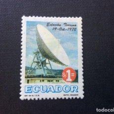 Sellos: ECUADOR Nº YVERT 891*** AÑO 1973. INAUGURACION ESTACION PARA SATELITES DE CHILLOTAL. Lote 218156135