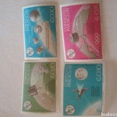 Timbres: SELLOS PARAGUAY NUEVOS/+/-SEÑAL BISAGRA/1965/100ANIV/UNION/INTERN./TELECOMUNICACIONES/ESPACIO/SATEL. Lote 219600245