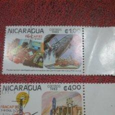 Sellos: SELLOS NICARAGUA MTDOS/1983/CONGRESO/RADIO/AFICIONADOS/PANAMA/CENTROAMERICA/BARCO/BARCA/RUINAS/EMISO. Lote 221145532