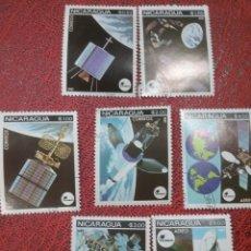 Sellos: SELLOS NICARAGUA MTDOS/1981/COMUNICACIONES/ESPACIO/VIAJES/SATELITE/PLANETA/COSMOS/ANTENAS/PLANETAS/O. Lote 221299696