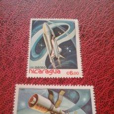 Sellos: SELLOS NICARAGUA NUEVO/1982/CORREO/AEREO/ESPACIO/VIAJES/COSMOS/SATELITE/NAVES/LANZADERA/ASTRONAUTA/. Lote 221363656