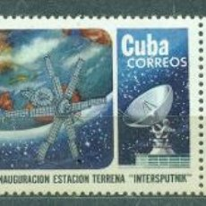 Sellos: 2019 CUBA 1974 MNH INAUGURATION OF INTER-SPUTNIK SATELLITE EARTH STATION. Lote 228165200