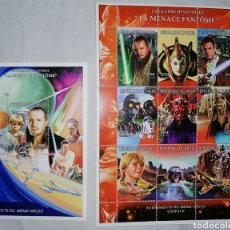 Sellos: NIGER 1998 STAR WARS EPISODIO 1 LA AMENAZA FANTASMA - NUEVO MNH. Lote 231549645