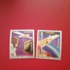 Sellos: SELLOS MALTA NUEVOS/1991/EUROPA/CEPT/ESPACIO/LANZADERA/COHETES/NAVE/SATELITE/TELEVISION/PANETA/COSMO. Lote 234538400