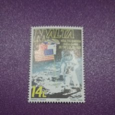 Sellos: SELLOS MALTA NUEVOS/1994/25ANIV/LLEGADO/HOMBRE/LUNA/ASTRONAUTA/BANDERA/PLANETA/SATELITE/ESPACIO/COSM. Lote 234572005