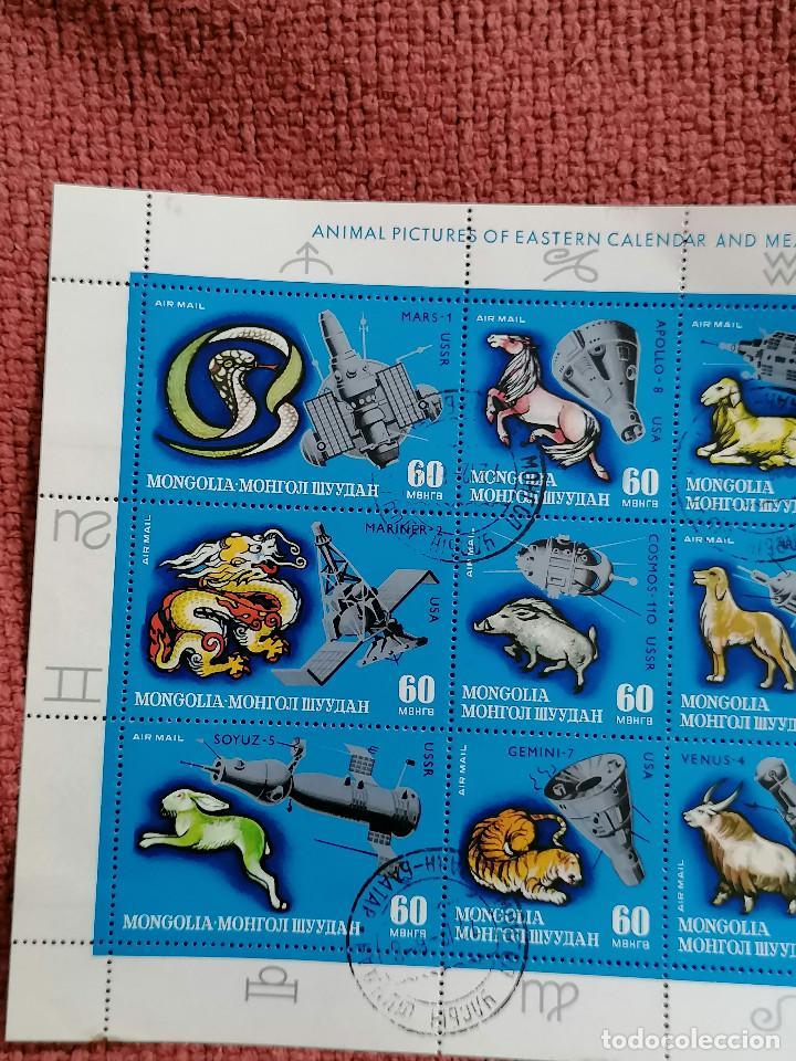 Sellos: Astronomia Mongolia Calendario De Animales y Vehiculos de transporte por el espacio - Foto 2 - 235286765