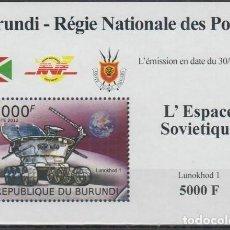 Sellos: BURUNDI 2012 HOJA BLOQUE SELLOS CONQUISTA DEL ESPACIO. Lote 235379730