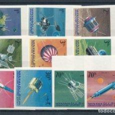Sellos: SELLOS MANAMA 1968 ESPACIO SATELITES 10 VALORES SIN DENTAR. Lote 236696975