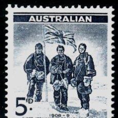 Sellos: TEMA ASTRO. AUSTRALIA A-T. 1961 6 1V. PRIMER LOGRO DEL POLO MAGNETICO. Lote 237727695