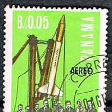 Sellos: PANAMA Nº 971, COOPERACION ITALIANA EN LA CONQUISTA ESPACIAL, USADO. Lote 239468985