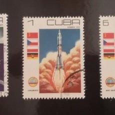 Sellos: CUBA 1979 - ESPACIO - DIA DE LA COSMONAUTICA. Lote 239757345