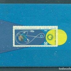 Sellos: CUBA 1965 INTERNATIONAL QUIET SUN YEAR MNH - SPACE, THE SUN, SPACESHIPS. Lote 241339435