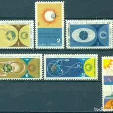 Sellos: CUBA 1965 INTERNATIONAL QUIET SUN YEAR NG - SHIPS, SPACE, THE SUN, NATURE. Lote 241339535