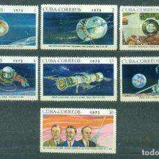 Sellos: CUBA 1972 USSR SPACE HISTORY NG - SPACE, SPACESHIPS, YURI GAGARIN. Lote 241340775