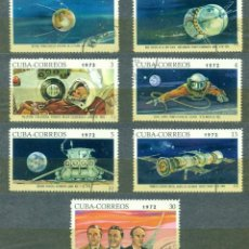 Sellos: CUBA 1972 USSR SPACE HISTORY U - SPACE, SPACESHIPS, YURI GAGARIN. Lote 241340795