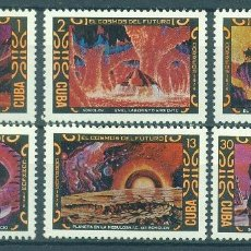 Sellos: CUBA 1974 COSMONAUTICS DAY - SCIENCE FICTION PAINTINGS BY SOKOLOV MNH - SPACE, PAINTINGS. Lote 241341450