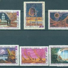 Sellos: CUBA 1975 COSMONAUTICS DAY - SCIENCE FICTION PAINTINGS MNH - SPACE. Lote 241363150