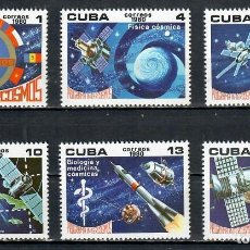 Sellos: 🚩 CUBA 1980 INTERCOSMOS PROGRAMME MNH - SPACE, SPACESHIPS. Lote 241364955