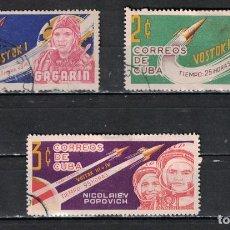 Sellos: CUBA 1963 THE COSMIC FLIGHTS U - SPACESHIPS. Lote 241379220
