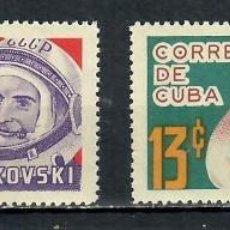 Sellos: CUBA 1964 THE COSMIC FLIGHTS MNH - SPACE, SPACESHIPS. Lote 241390625