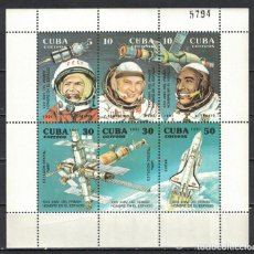 Sellos: CUBA 1991 THE 30TH ANNIVERSARY OF THE FIRST MAN IN SPACE - WHITE FRAME MNH - SPACE, SPACESHIPS. Lote 241497480