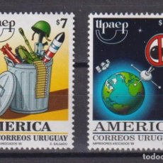 Sellos: URUGUAY 1999 AMERICA - A NEW MILLENNIUM WITHOUT ARMS MNH - SPACE, WEAPON. Lote 241513585