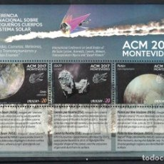 Sellos: URUGUAY 2017 INTERNATIONAL CONFERENCE ON THE SMALL BODIES OF THE SOLAR SYSTEM MNH - SPACE. Lote 241514510