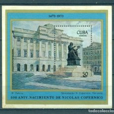 Sellos: CUBA 1973 THE 500TH ANNIVERSARY OF THE BIRTH OF COPERNICUS MNH - ARCHITECTURE, SPACE, ASTRONOMY, S. Lote 241635480
