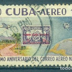 Sellos: CUBA 1960 AIRMAIL - THE 80TH ANNIVERSARY OF THE NATIONAL AIRMAIL SERVICE U - SPACE, STAMPS ON STAM. Lote 241645945