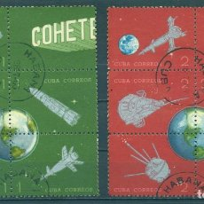 Sellos: CUBA 1964 CUBAN POSTAL ROCKET EXPERIMENT - THE 25TH ANNIVERSARY OF VARIOUS ROCKETS AND SATELLITES U. Lote 241648040