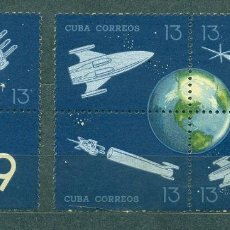 Sellos: CUBA 1964 CUBAN POSTAL ROCKET EXPERIMENT - THE 25TH ANNIVERSARY OF VARIOUS ROCKETS AND SATELLITES N. Lote 241648100