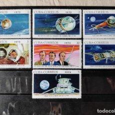 Sellos: CUBA- CONQUISTA DEL ESPACIO SERIE COMPLETA- MICHEL 1160/66 SIN SEÑAL DE CHARNELA. Lote 243064300