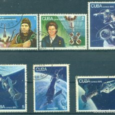 Sellos: 🚩 CUBA 1976 THE 15TH ANNIVERSARY OF THE FIRST MANNED SPACE FLIGHT U - SPACE, SPACESHIPS, Y. Lote 243130990