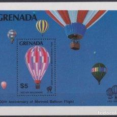 Sellos: F-EX22671 GRENADA MNH 1983 SHEET 200 ANIV MANNED GLOBE FLIGHT BALLOON.. Lote 244621810