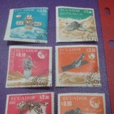Francobolli: SELLO ECUADOR MTDOS/+/- S. BISAGRA/1966/EXPLORACION/LUNA/ESPACIO/COSMOS/NAVES/SATELITE/PLANTE/ASTRO/. Lote 248810485