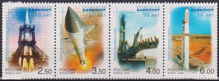 Sellos: ⚡ Discount Russia 2004 50th anniversary of the Baikonur cosmodrome MNH - Spaceships - Foto 1 - 255634185