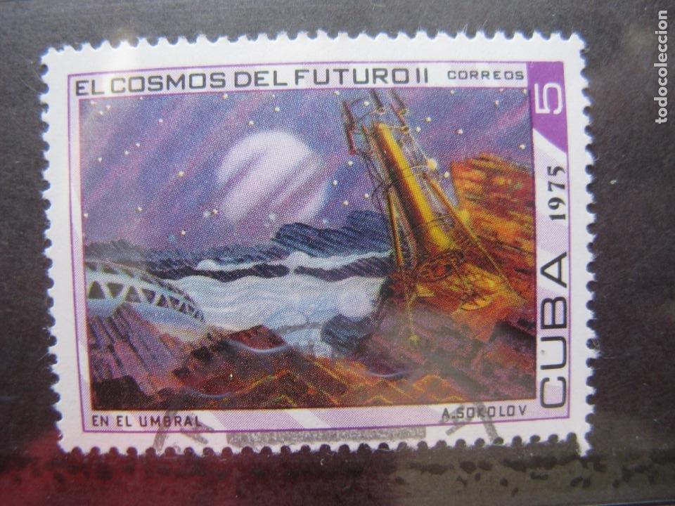 *CUBA, 1975, EL COSMOS DEL FUTURO, YVERT 1839 (Sellos - Temáticas - Conquista del Espacio)