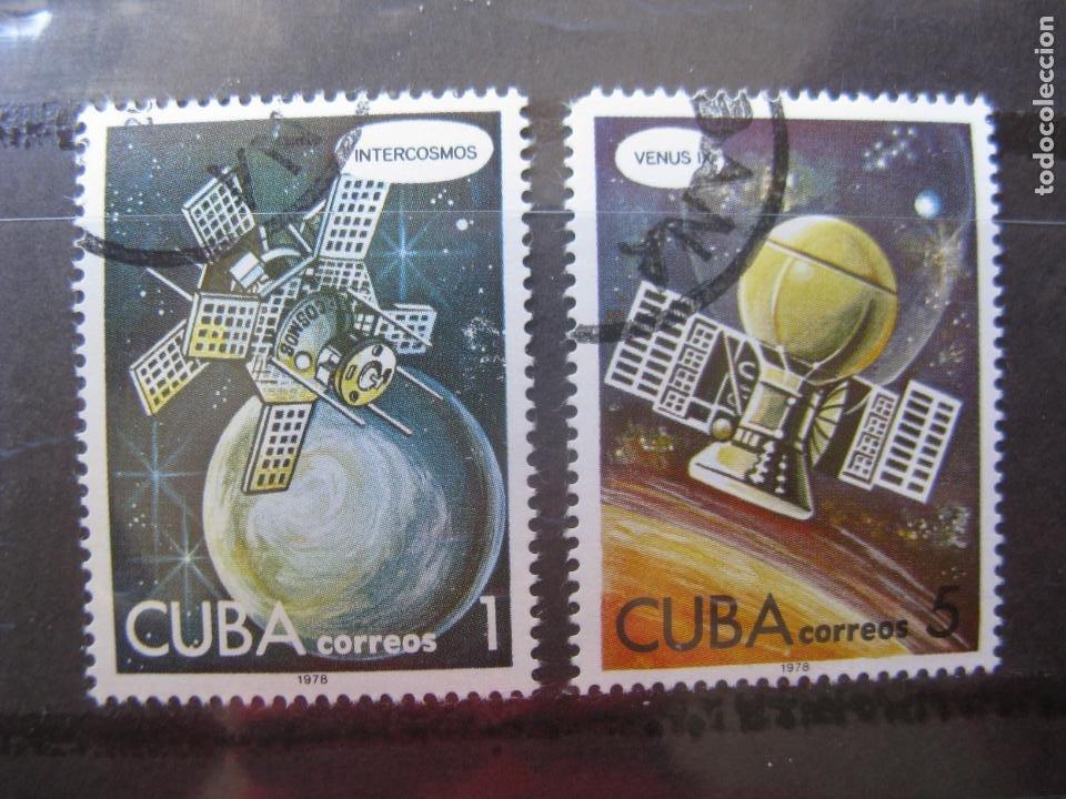 *CUBA, 1978, DIA DE LA ASTRONAUTICA, INTERCOSMOS Y VENUS 9. (Sellos - Temáticas - Conquista del Espacio)