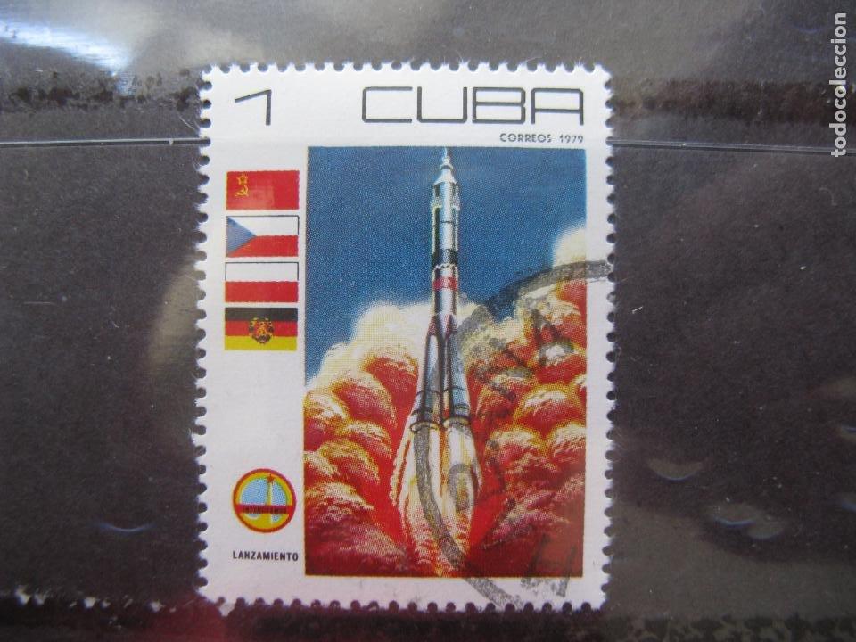 *CUBA, 1979, DIA DE LA COSMONAUTICA, YVERT 2110 (Sellos - Temáticas - Conquista del Espacio)