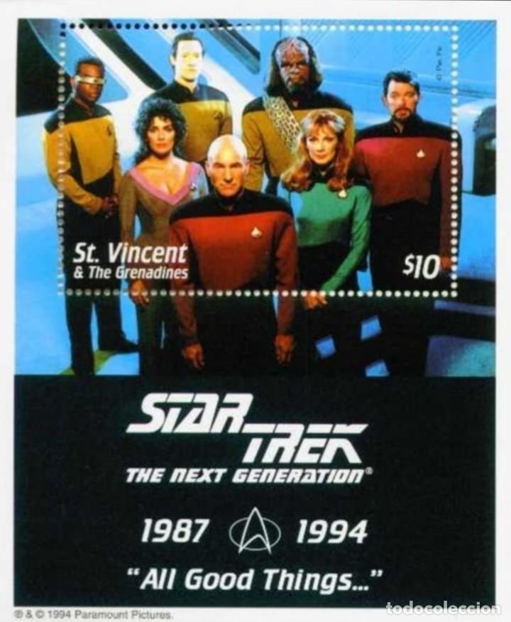 SELLOS ST. VINCENT & THE GRENADINES 1994 STAR TREK THE NEXT GENERATION (Sellos - Temáticas - Conquista del Espacio)