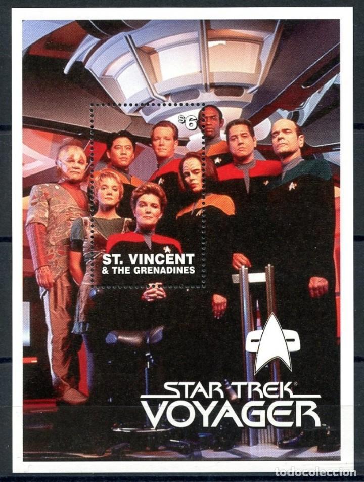 SELLOS ST. VINCENT & THE GRENADINES 1997 STAR TREK VOYAGER (Sellos - Temáticas - Conquista del Espacio)