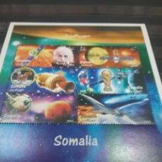 Francobolli: HB R. SOMALIA NUEVA/1999/ESPACIO/NAVES/LANZADERA/COHETE/EINSTEIN/PLANETA/SATELITE/AVIONES/AVIACION/. Lote 257503970
