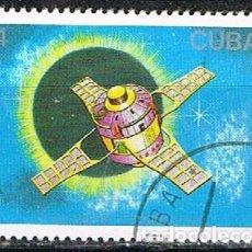 Sellos: CUBA Nº 3185, DIA DE LA COSMONAUTICA: SONDA ESPACIAL SIGNO 3, USADO. Lote 260734605